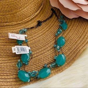 DABBY REID Three strand necklace pacific opal NWT